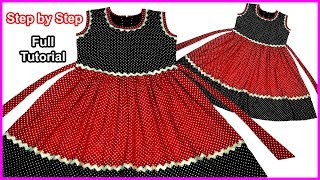 Simple Most of Way for making Beautiful Designer baby Frock Cutting & Stitching Full Tutorial