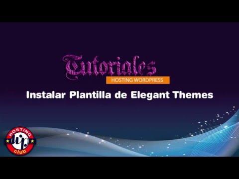 Instalar Plantilla Elegant Themes
