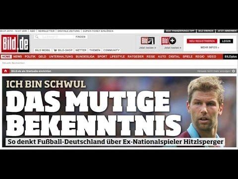 "German international footballer Hitzlsperger ""comes out"""