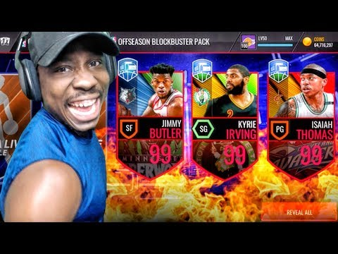 99 OVR KYRIE IRVING & ISAIAH THOMAS OFFSEASON LEGENDS! NBA Live Mobile Gameplay Pack Opening Ep. 161
