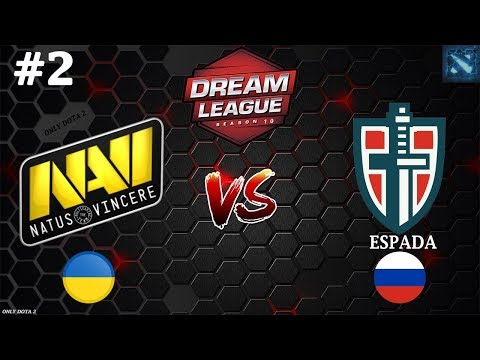 НАВИ играют с ЭНИГМОЙ! | Na`Vi vs Espada #2 (BO3) | DreamLeague Season 10 | CIS
