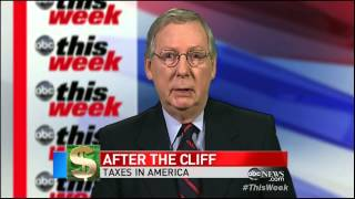 McConnell: No More Tax Increases