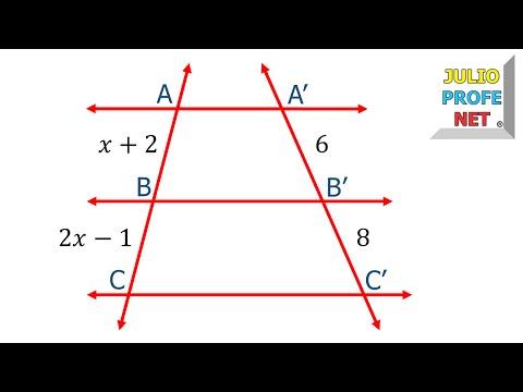 Aplicación del Teorema de Thales