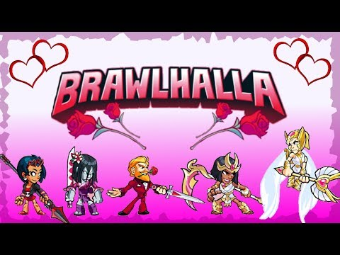 NEW Valentines Skins!! (Plus some old but gold ones) • 1v1s • Brawlhalla Gameplay