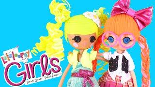 Lalaloopsy Girls Bea Spells-a-Lot and Pix E. Flutters Dolls Unboxing Review and Playing