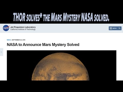 Breaking News! I solved the Mars Mystery that NASA will announce on Sept. 28th 2015