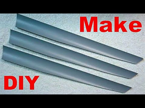 How To Make Homemade PVC Wind Turbine Blades DIY