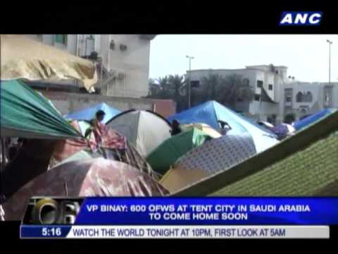 Binay 600 distressed OFWs returning from Saudi