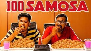 100 Samosa Eating Challenge   Sothu Mootai   Tamil food challenge