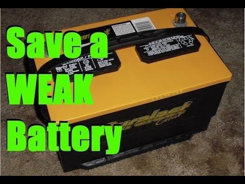 Save a Weak BATTERY with epsom salt
