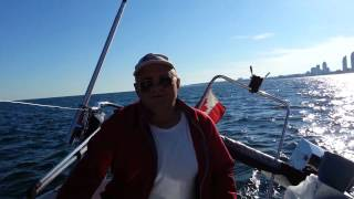 Sailing on the lake of Ontario August 25, 2014 Toronto