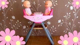 Baby Dolls Twin's Highchair - Twin Baby Dolls dinner Time Nenuco Baby Annabell