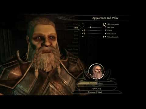 Dragon Age Origins Characters Creation Let s Play Dragon Age Origins
