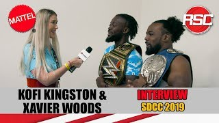 KOFI KINGSTON & XAVIER WOODS - WWE Ringside Collectibles Interview at SDCC 2019! San Diego Comic Con