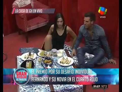 """""""Gran Hermano 2015"""": Fernando tuvo una cita con su novia en el Cuarto Rojo"""