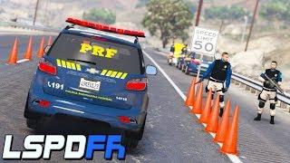 GTA V : MOD POLICIA : MEGA BLITZ POLICIAL COM POLICIA RODOVIÁRIA FEDERAL ( PRF ) : EP. 210