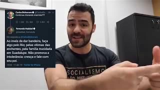 Haddad vs Carlos Bolsonaro no Twitter