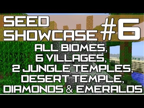 Minecraft Xbox 360 & PS3 : TU15 SEED - All Biomes, 6 Villages, 3 Temples & Diamonds!