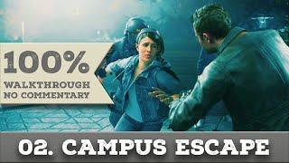 Quantum Break Walkthrough part 2 CAMPUS ESCAPE (Hard, All Collectibles)