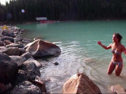 Lake Louise Swim (and Canadian Rockies) video