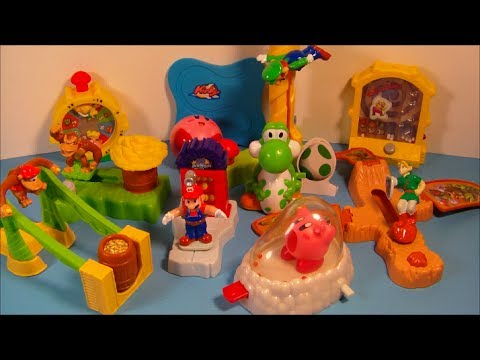 2002 NINTENDO SUPERSTARS SET OF 10 BURGER KING KID S MEAL TOY S VIDEO REVIEW