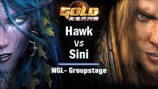 ► WarCraft 3 - Hawk (HU) vs. Sini (NE) - WGL Groupstage