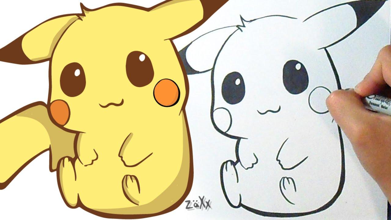 Good Cute Baby Pikachu Drawings
