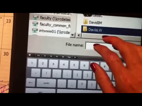 iPad:  full Microsoft office on the iPad