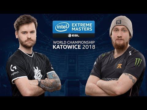 CS:GO - G2 vs. Fnatic [Cache] Map 1 - UB Semi Group B - IEM Katowice 2018