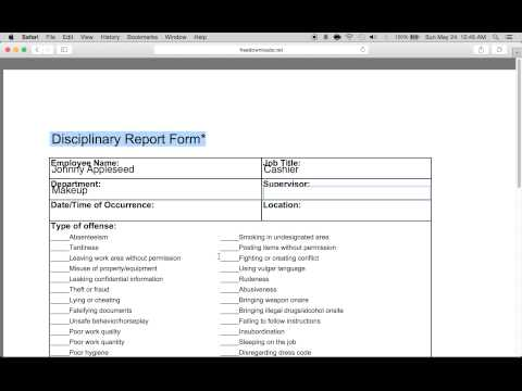Download Employee WriteUp Form  Pdf  Rtf  Word  FreedownloadsNet