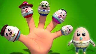 Шалтай-Болтай палец семья | детские рифмы | Humpty Dumpty Finger Family | Baby Nursery Songs