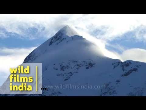Nanda Ghunti summit shines through clouds, from Bedni buggyal