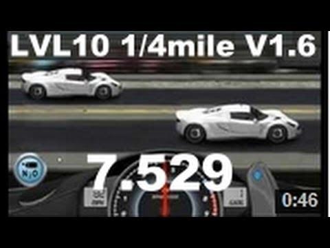 Drag Racing level 10 Hennessey Venom GT 1/4 mile tune setup V1.6 ...