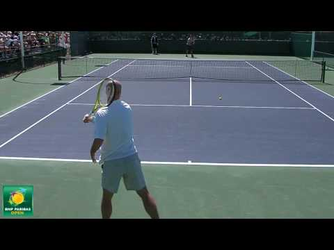 Roger Federer and Ivan Ljubicic Rallying in HD -- Indian Wells Pt. 11 Video