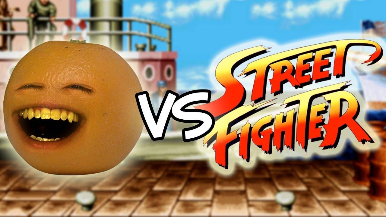 annoying orange vs street fighter youtube. Black Bedroom Furniture Sets. Home Design Ideas