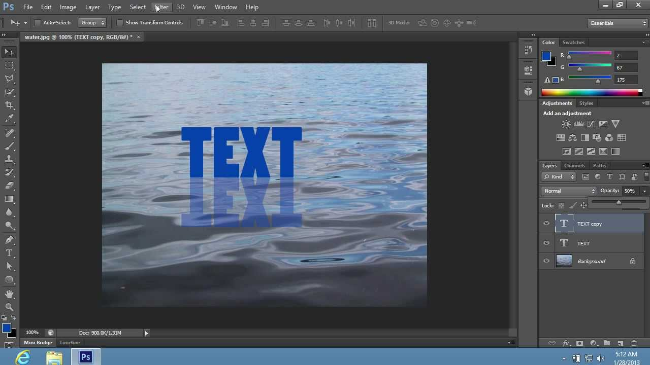 How To Make Water Reflections In Photoshop CC CS6