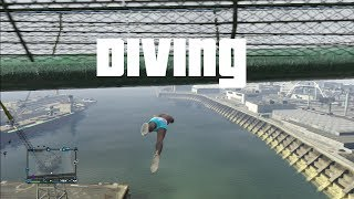GTA 5 - Diving into Water
