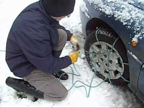 Snow Chain Alternative : Snow Rope - a cheap effective alternative to Snow Chains.wmv