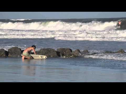 Hurricane Arthur Surfing - Folly Beach, South Carolina, July 2014