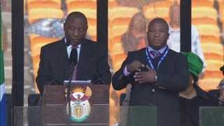 Nelson Mandela sign language interpreter