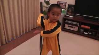 My son (4years old ) wanna be Bruce Lee!!!!!!