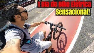 BIKE ELÉTRICA CALOI E-VIBE ELITE - Um dia com essa bike na Cidade