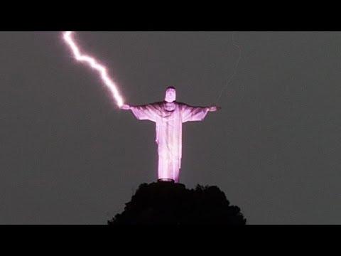 Rayo Cae Encima Del Cristo Rendetor!!! ? NUEVAS IMAGENES IMPRESIONANTES!!