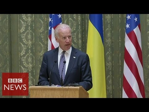 Biden: 'We don't recognize Russia's actions in Crimea' - BBC News