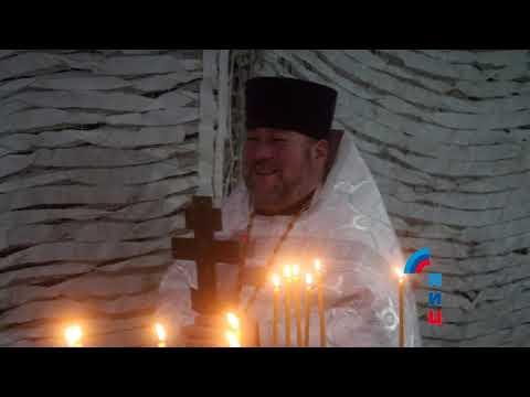 Войсковой священник освятил купель в полевом храме Народной милиции ЛНР
