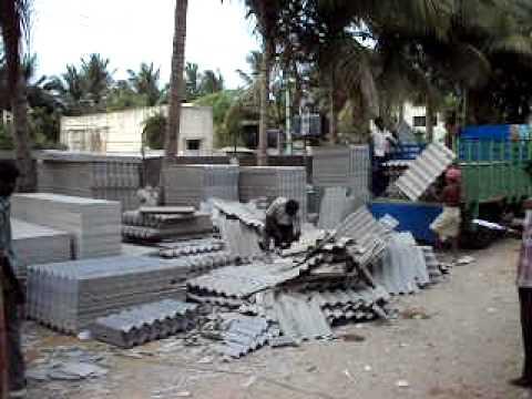 Asbestos Cement Sheet Cutting Pondicherry India April 6