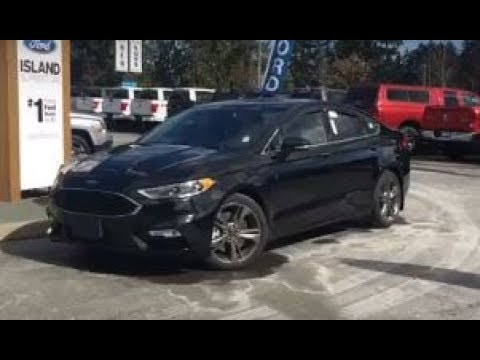 2018 ford fusion sport awd review  island ford youtube