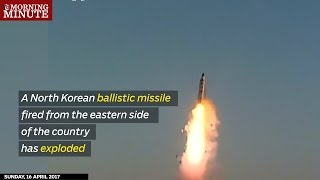 North Korean missile fails after a show of strength