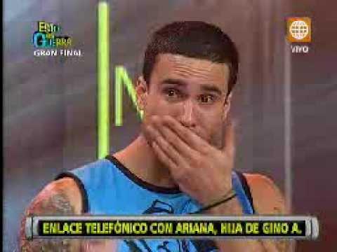 Esto es Guerra: Gino Assereto llora tras recibir llamada de su hija - 16/08/2013