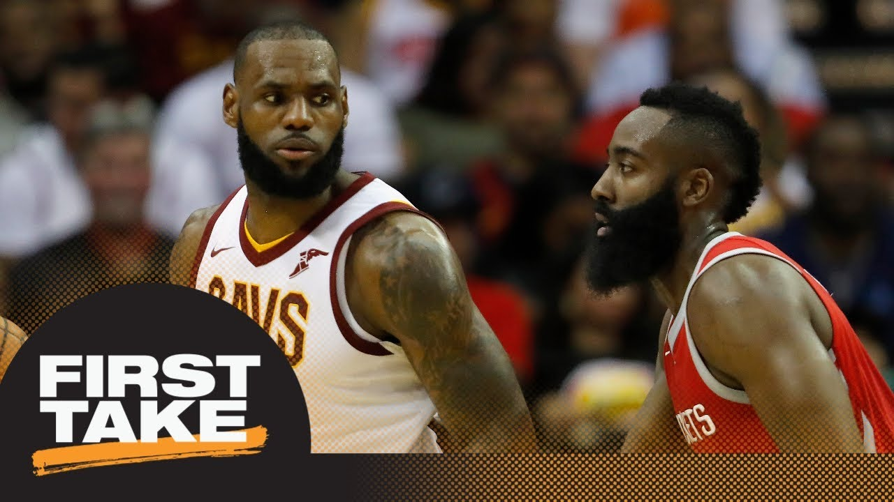 First Take debates NBA MVP right now: LeBron James or James Harden | First Take | ESPN